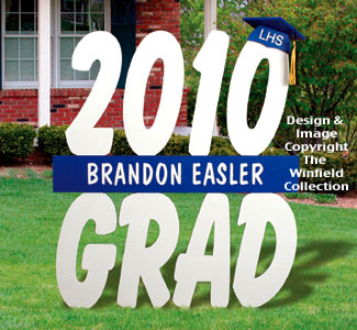 Graduation Year Sign Wood Pattern