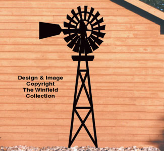 Country Windmill Yard Shadow Woodcraft Pattern