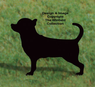 Chihuahua Shadow Woodcrafting Pattern
