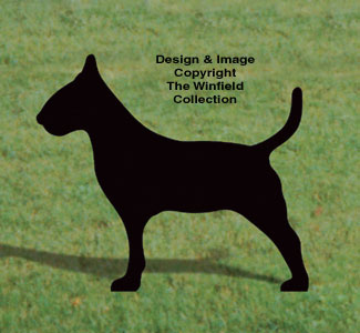Bull Terrier Shadow Woodcrafting Pattern