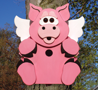 When Pigs Fly Birdhouse Wood Plan