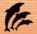 Dolphin Shadows Woodcrafting Pattern