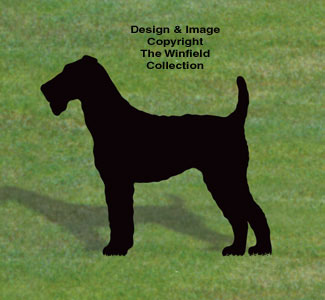 Airedale Terrier Shadow Wood Pattern