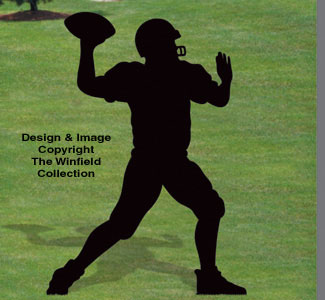 Quarterback Shadow Woodcrafting Pattern