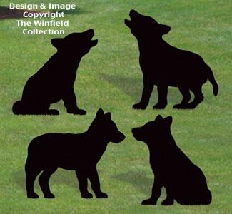 Wolf Pup Shadows Woodcraft Pattern
