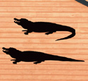 Alligator Shadows Woodcrafting Pattern