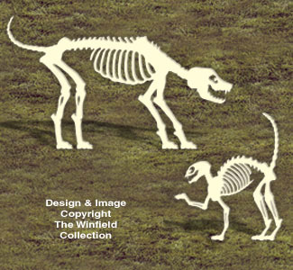 Skeleton Dog and Cat Woodcrafting Pattern