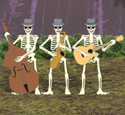 Skeleton Jazz Band Woodcraft Pattern