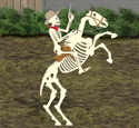 Skeleton Horse Rider Woodcraft Pattern
