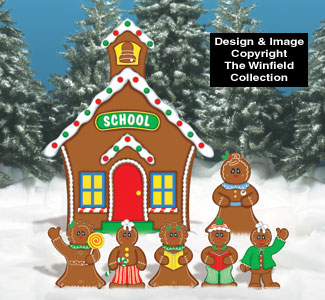 Gingerbread School House Woodcraft Pattern