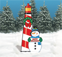 Snowman, Wreath and Lighthouse Pattern Set