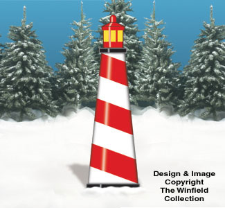 Lighthouse Holiday Backdrop Wood Pattern