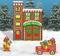 Gingerbread Firehouse Woodcraft Pattern