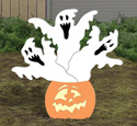 Haunted Pumpkin Woodcraft Pattern