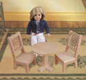 Doll Pedestal Table and Chair Pattern