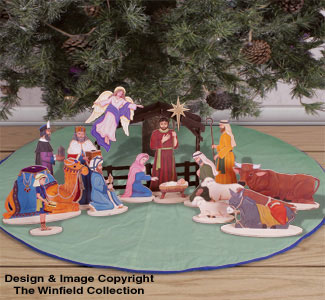 Under The Tree Nativity Pattern