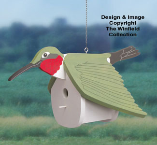 Hummingbird Birdhouse Wood Pattern