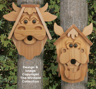 Cow & Horse Birdhouse Woodcraft Patterns