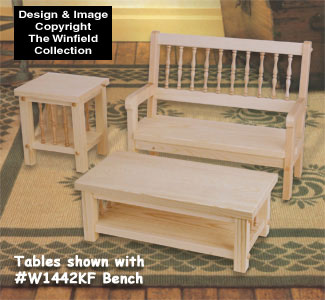 Doll Amp Bear Furniture Doll Coffee And End Table Wood Pattern