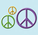 Peace Sign Wall Decor Woodcraft Pattern