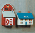 Country House and Barn Mailbox Patterns