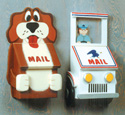 Postal Truck and Dog Mailbox Patterns
