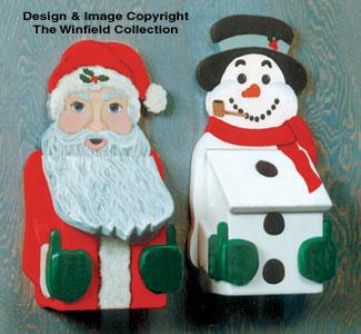 Santa and Snowman Mailbox Patterns