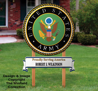 Small Army Sign Woodcraft Pattern