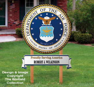 Small Air Force Sign Woodcraft Pattern