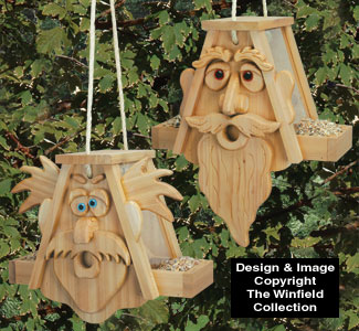 Cedar Men Bird Feeders Pattern