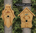 Cedar Men Birdhouses #2 Pattern