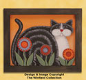 Folk Art Feline Wood Pattern