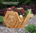 Landscape Timber Snail Planter Plan