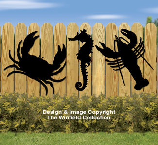Sea Life Shadows Woodcrafting Pattern