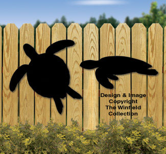 Sea Turtle Shadows Woodcraft Pattern