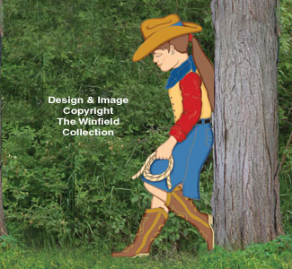 Realistic Leaning Cowgirl Kid Pattern