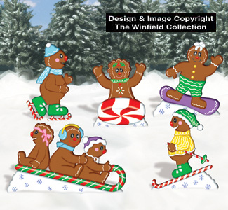 Playful Gingerbread People Pattern