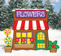 Gingerbread Flower Shop Pattern
