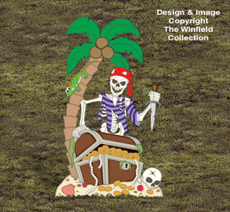 Haunted Treasure Island Wood Pattern