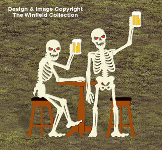 Skeleton Bar Buddies Wood Pattern