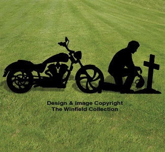 People biker prayer shadow wood pattern for Yard shadow patterns