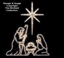 Nativity and Star Nite-Lite Pattern Set
