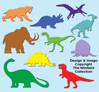 ... - Of 1 Coloring Page Dinosaur Trace And Cut Out The Dinosaur Pattern