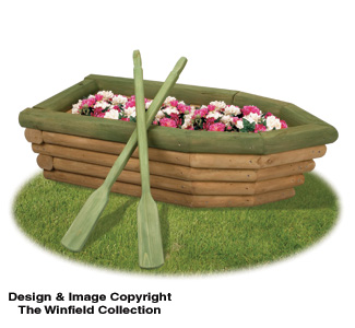 How to make a wooden boat planter outdoor