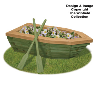 Planter woodworking plans 2x rowboat planter wood plans for Picnic boat plans