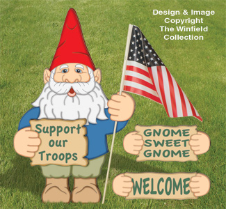 Small Garden Gnome Yard Sign Pattern