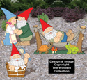 Small Garden Gnomes #3 Pattern Set