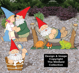 Large Garden Gnomes #3 Pattern Set