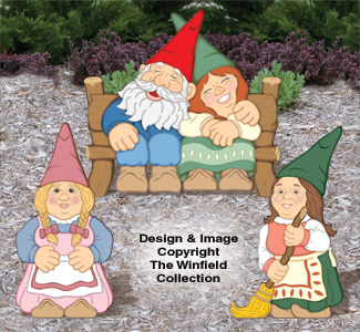 Large Garden Gnomes #4 Pattern Set