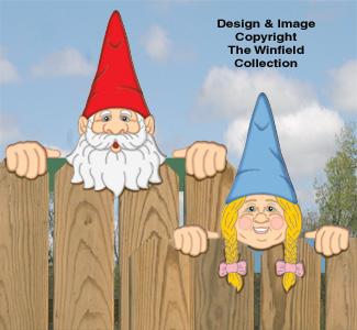 Gnome Fence Peekers Woodcraft Pattern